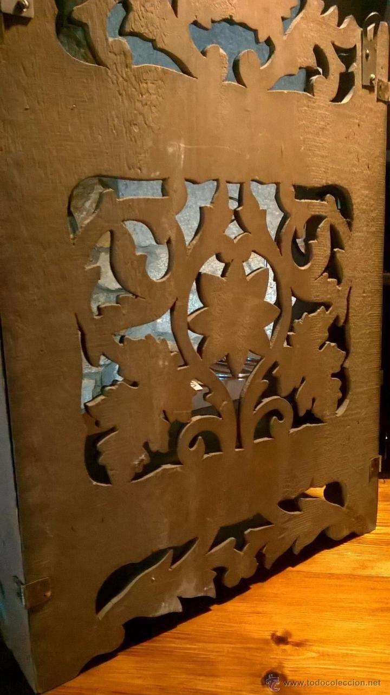 Antigüedades: Pareja antiguas , mensula, peana, plegables - Foto 7 - 53251588