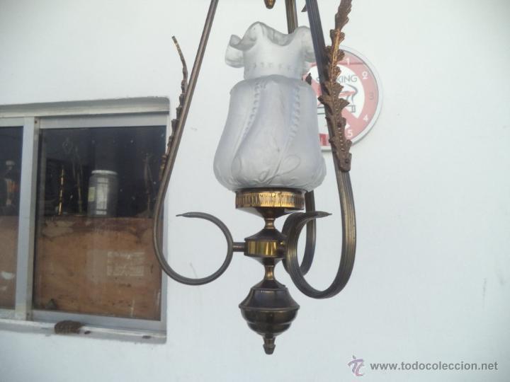 Antigüedades: lampara tulipa - Foto 2 - 53255833
