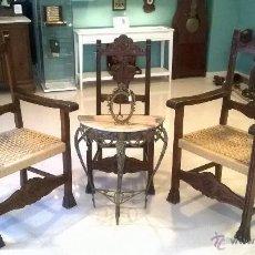 Antigüedades: JUEGO DE SILLONES Y SILLA INDIVIDUAL,TAMBIEN VENTA POR SEPARADO. Lote 53256741