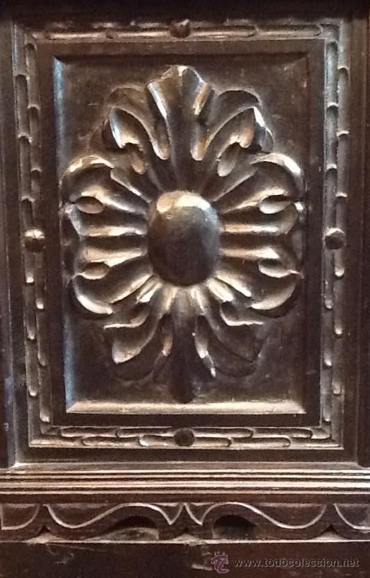 Antigüedades: Bargueño / madera de castaño / tallas / - Foto 3 - 53257765