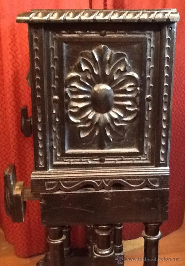 Antigüedades: Bargueño / madera de castaño / tallas / - Foto 5 - 53257765