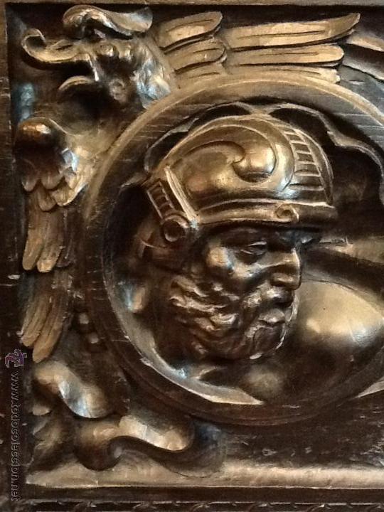 Antigüedades: Bargueño / madera de castaño / tallas / - Foto 10 - 53257765