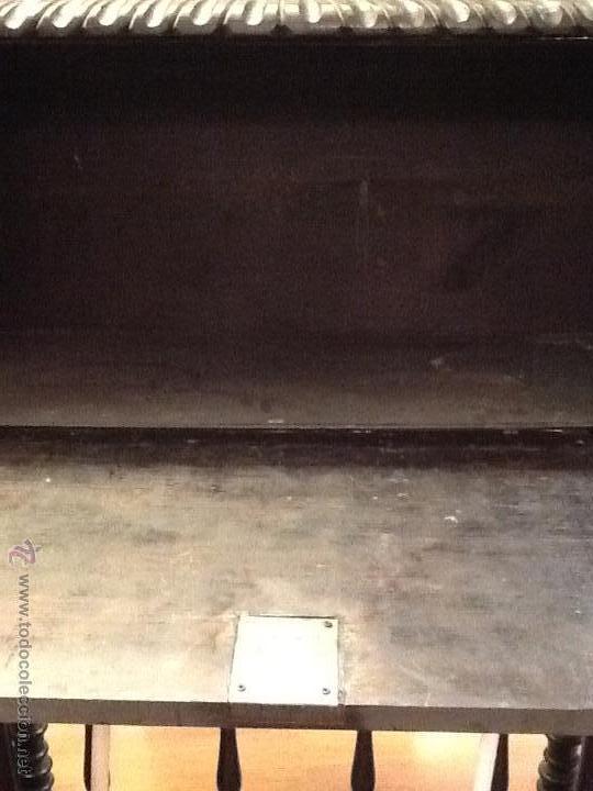 Antigüedades: Bargueño / madera de castaño / tallas / - Foto 20 - 53257765