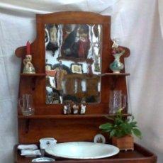 Antigüedades: ANTIGUO MUEBLE LAVABO EN MADERA.. Lote 32864452