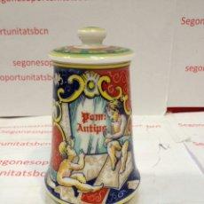 Antigüedades: TARRO FARMACIA - PORCELANA - HECHO A MANO - POM ANTIPS. Lote 53263851
