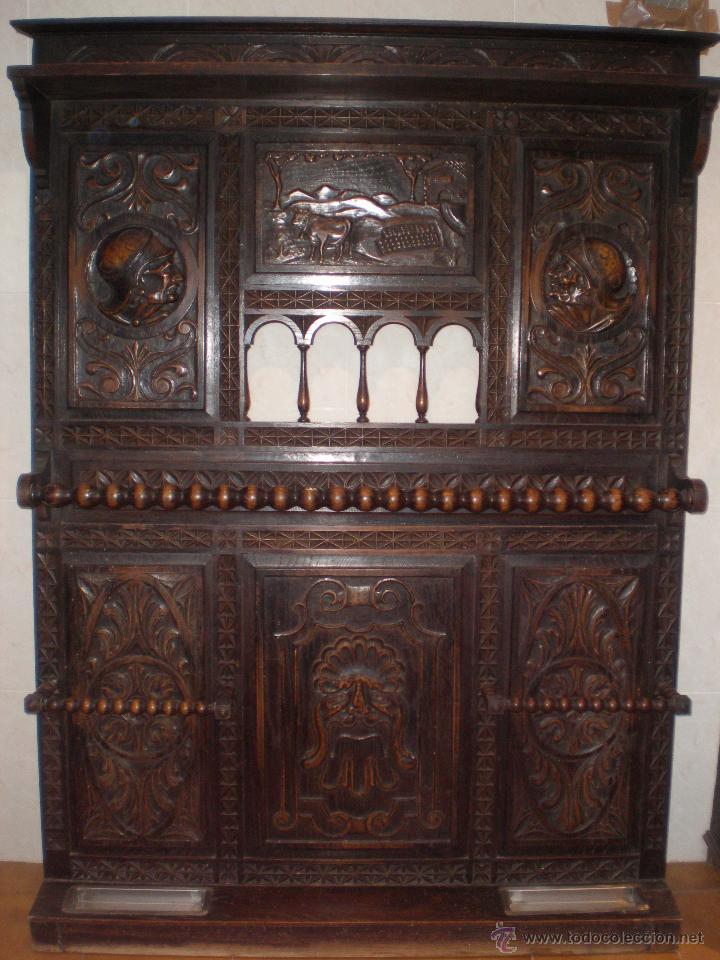 Antiguo parag ero mueble recibidor aprox 1860 comprar - Mueble recibidor rustico ...