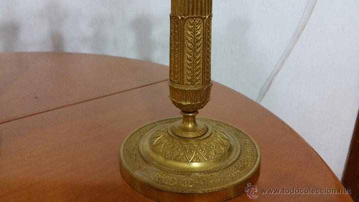 Antigüedades: PRECIOSA PAREJA DE CANDELABROS IMPERIO SIGLO XIX - Foto 6 - 53277479
