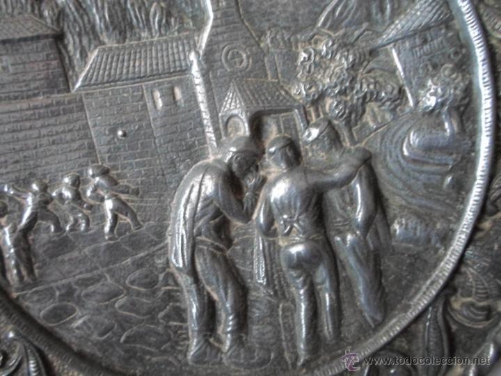 Antigüedades: DOS PLATOS DECORATIVOS DE PARED- ESCENAS MONTAÑESA DE JOSE MARIA PEREDA - AÑOS 40 - Foto 3 - 53278207