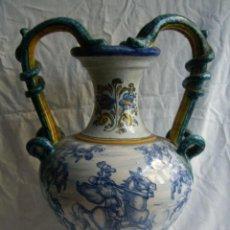 Antigüedades: ANFORA DE CERAMICA DE TALAVERA ASA SERPIENTE. Lote 53283742