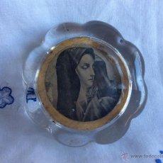 Antigüedades: ANTIGUO PISAPAPELES CON IMAGEN DE LA VIRGEN MARÍA . Lote 53288499