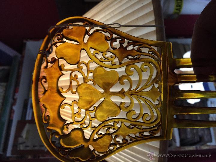 Antigüedades: Antigua peineta de plástico 10 cm alta sin las púas - Foto 2 - 53289544