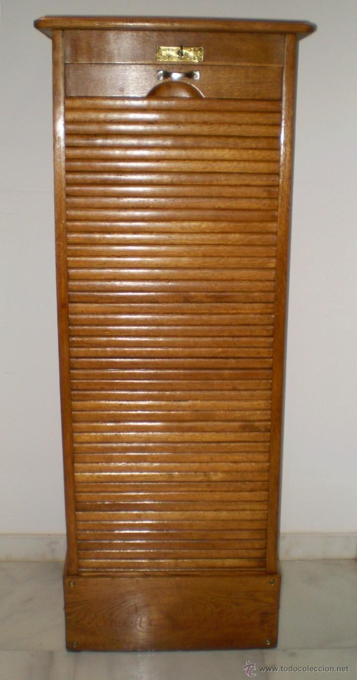 Mueble archivador de persiana en roble estilo comprar - Persianas para muebles ...