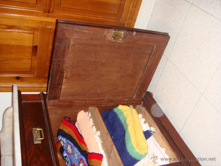 Antigüedades: Bonito Tocador Isabelino. S.XIX. Caoba. Tapa de mármol. - Foto 3 - 53297536