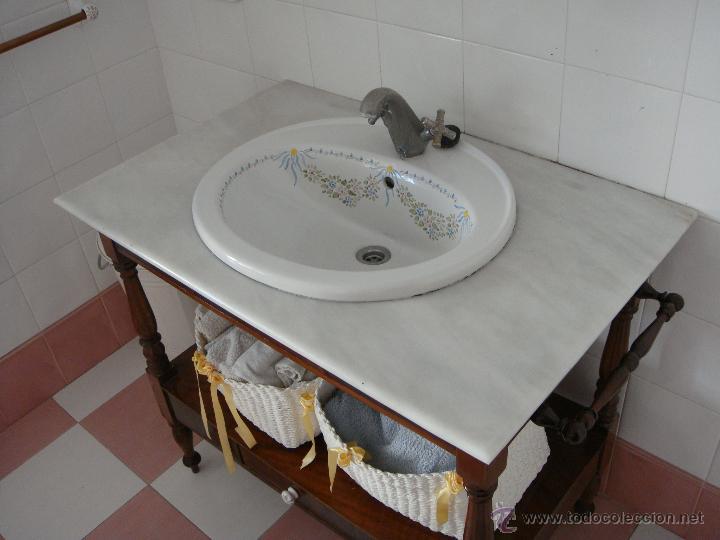 Antigüedades: Antiguo Mueble Tocador para lavabo. S.XIX. Caoba - Foto 3 - 53297587