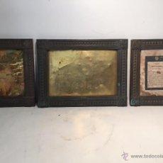 Antigüedades: SACRA O SACRAS DE BRONCE MACIZO ANTIGUA, TRES PIEZAS.SIGLO XIX.. Lote 53315395
