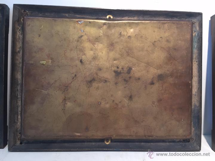 Antigüedades: SACRA O SACRAS DE BRONCE MACIZO ANTIGUA, TRES PIEZAS.SIGLO XIX. - Foto 5 - 53315395