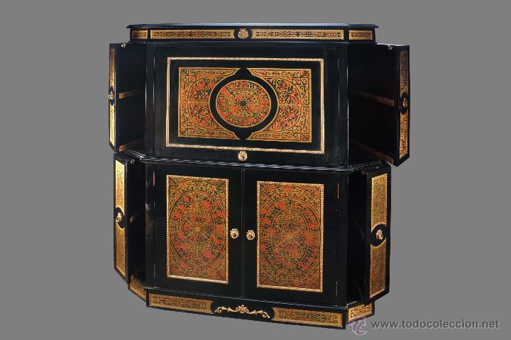 MUEBLE TV/BAR BOULLE (Antigüedades   Muebles Antiguos   Auxiliares Antiguos)
