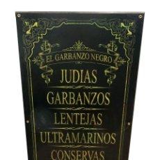 Antigüedades: CARTEL DE TIENDA, EL GARBANZO NEGRO, LEGUMBRES.. Lote 53326698