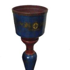 Antigüedades: COLUMA DE TERRACOTA POLICROMADA. Lote 53331099
