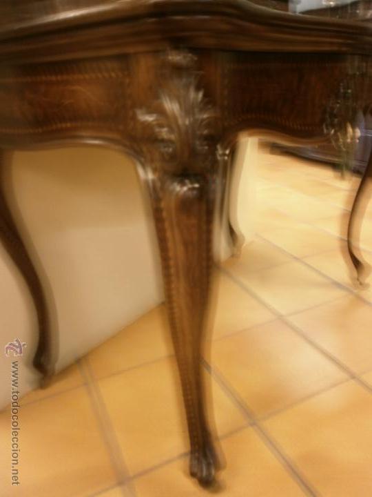 Antigüedades: Curioso tocador antiguo - Holanda - con talla y marquetería - con espejo - diferentes maderas - XIX - Foto 5 - 53331486
