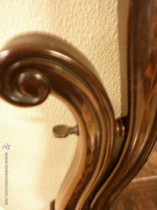 Antigüedades: Curioso tocador antiguo - Holanda - con talla y marquetería - con espejo - diferentes maderas - XIX - Foto 12 - 53331486