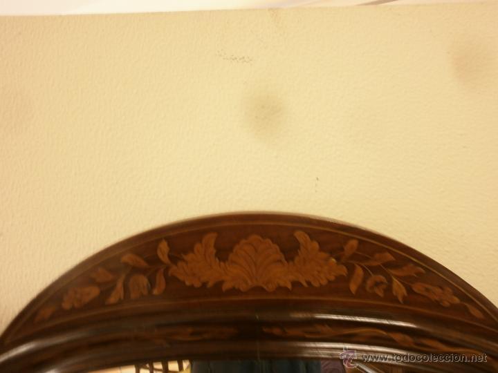 Antigüedades: Curioso tocador antiguo - Holanda - con talla y marquetería - con espejo - diferentes maderas - XIX - Foto 13 - 53331486