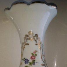 Antigüedades: JARRÓN DE OPALINA, FLORES; CRISTAL DE LA GRANJA. Lote 53331922