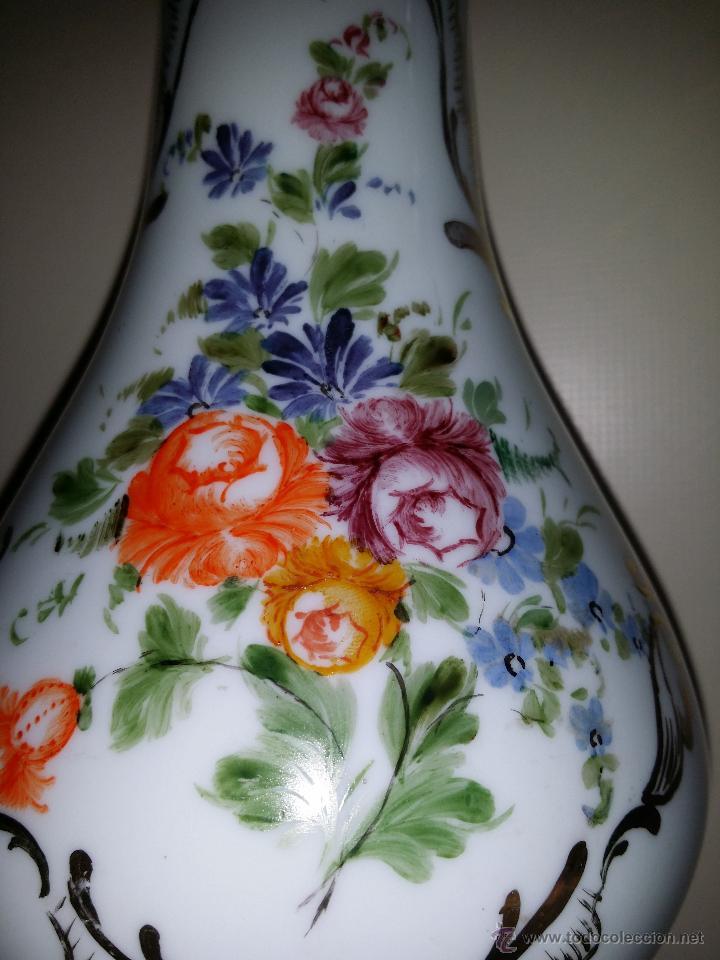 Antigüedades: Jarrón de opalina, flores; cristal de la Granja - Foto 2 - 53331922