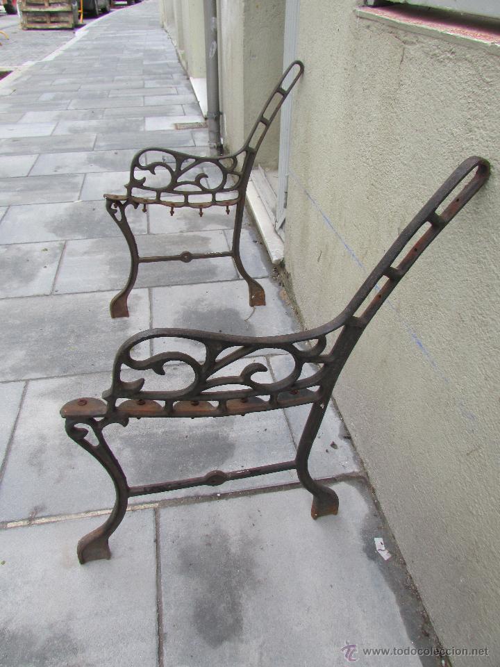 dos pies de hierro fundido para banco de jardín - Comprar Sillones ...