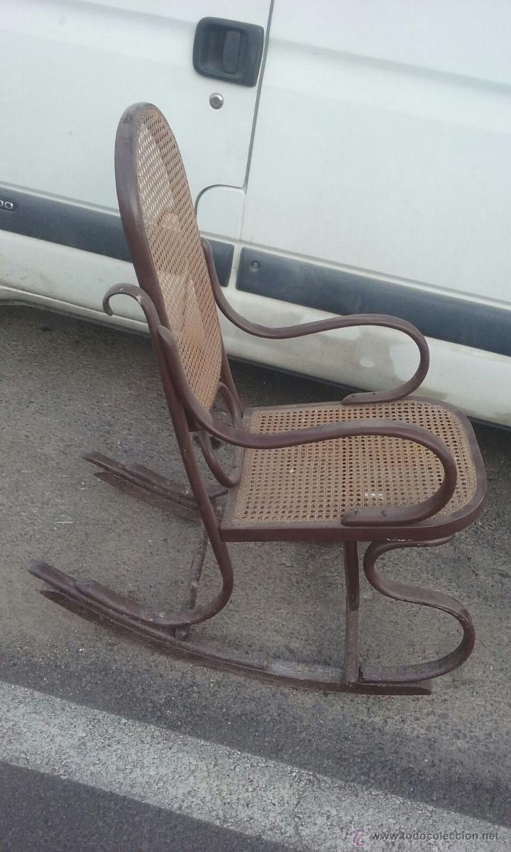 Antigua mercedora o butaca de madera para resta comprar sillones antiguos en todocoleccion - Sillones antiguos para restaurar ...