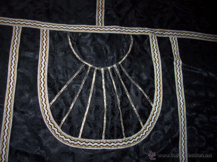 Antigüedades: CAPA PLUVIAL NEGRA - Foto 2 - 53339447