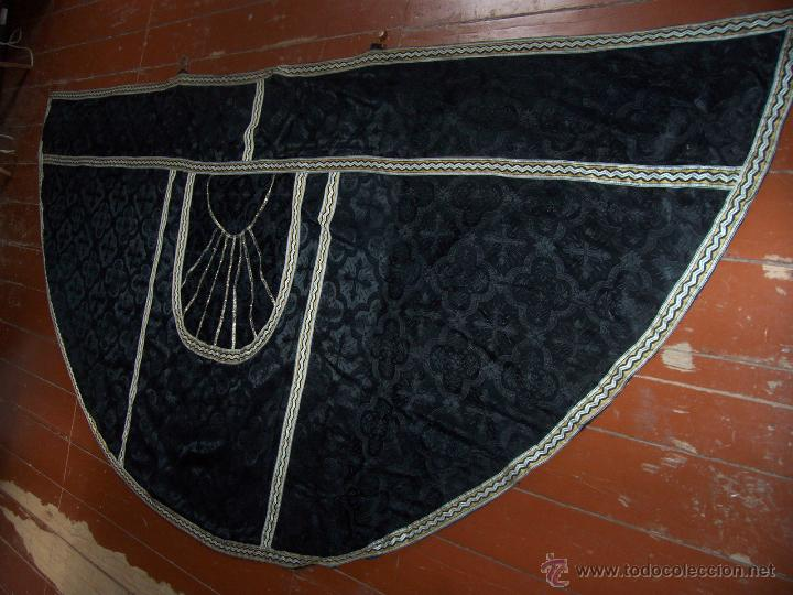 Antigüedades: CAPA PLUVIAL NEGRA - Foto 4 - 53339447