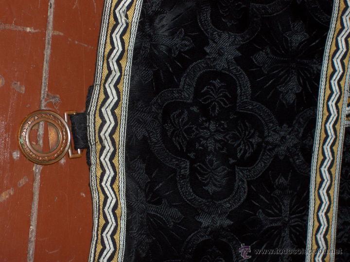 Antigüedades: CAPA PLUVIAL NEGRA - Foto 6 - 53339447