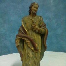 Antigüedades: SAGRADO CORAZON ERGUIDO PARA RESTAURAR.. Lote 53340460