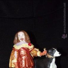 Antigüedades: EL INGLÉS EN AUTÉNTICA PORCELANA DE ALGORA CERTIFICADA. PIEZA POCO FRECUENTE EN PERFECTO ESTADO.. Lote 53341543