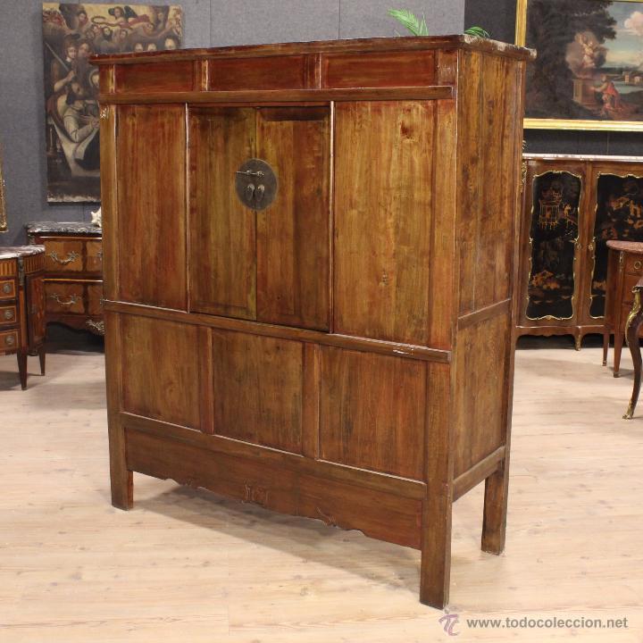 Aparador oriental en madera maciza del siglo xx comprar - Muebles orientales segunda mano ...