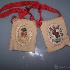 Antigüedades: ANTIGUO ESCAPULARIO DE TELA,. Lote 53350809