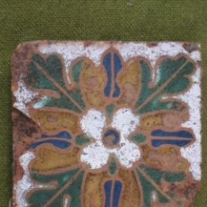 Antigüedades: AZULEJO ANTIGUO DE TOLEDO - OLAMBRILLA - ARISTA - RENACIMIENTO SIGLO XVI. Lote 53357360