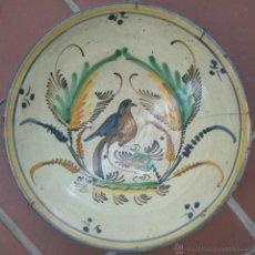 Antigüedades: PUENTE DEL ARZOBISPO - TOLEDO. PLATO CUENCO DE LA SERIE DE LA PAJARITA, SIGLOS XVIII-XIX. Lote 53358348