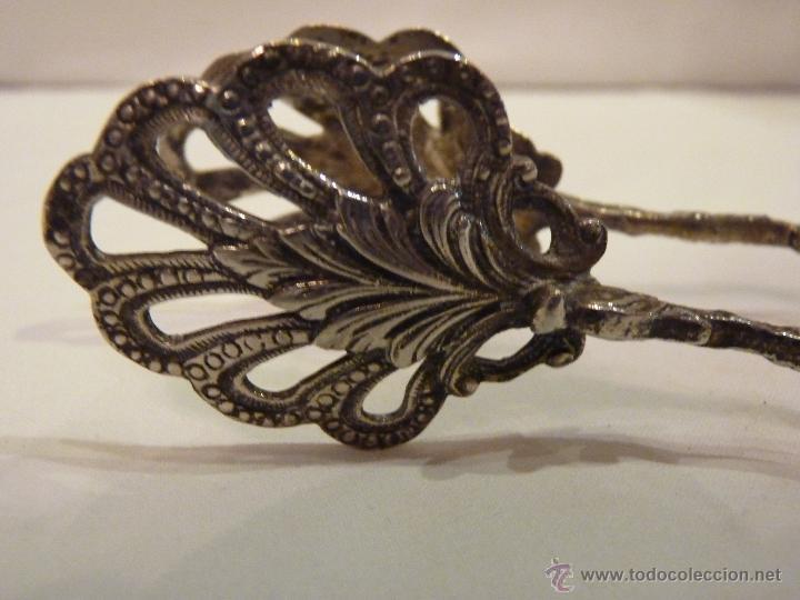 Antigüedades: PINZAS DE PLATA DE LEY PARA EL PAN O REPOSTERIA. HACIA 1950. - Foto 3 - 53359155