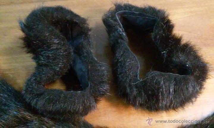 Antigüedades: Antiguos puños y cuello de abrigo. Pelo sintético. - Foto 2 - 53360202