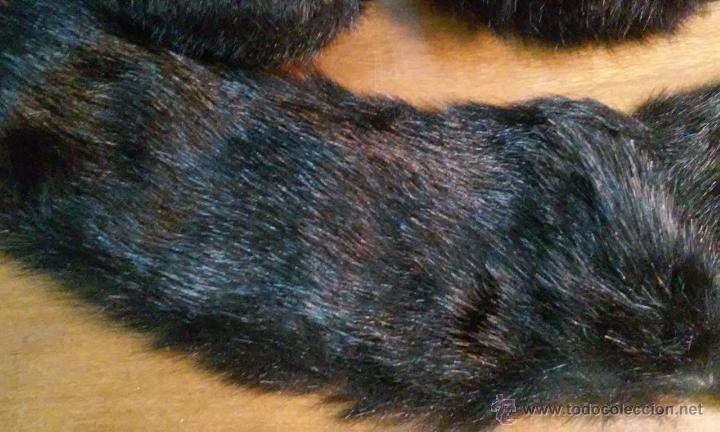 Antigüedades: Antiguos puños y cuello de abrigo. Pelo sintético. - Foto 3 - 53360202