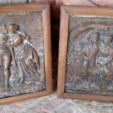 Antigüedades: CUADROS DE COBRE LEER. Lote 53362341