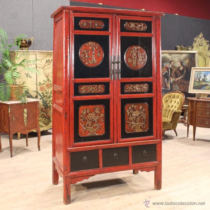 armario chino en madera lacada del siglo xx - Comprar Armarios ...