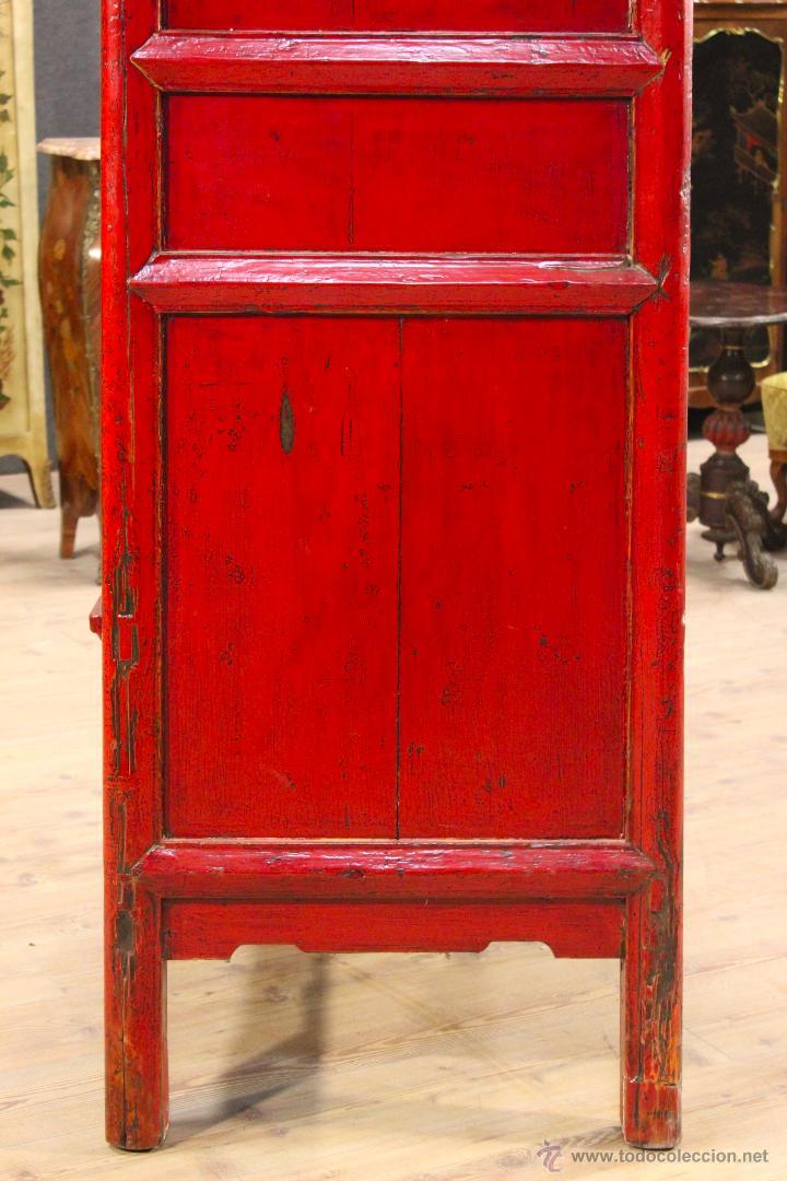 Antigüedades: Armario chino en madera lacada del siglo XX - Foto 8 - 53363269
