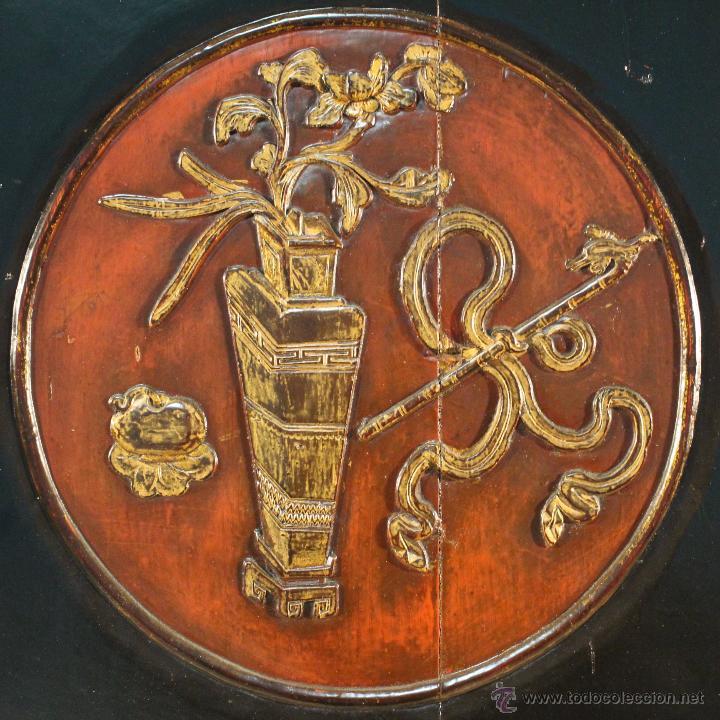 Antigüedades: Armario chino en madera lacada del siglo XX - Foto 11 - 53363269