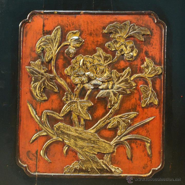 Antigüedades: Armario chino en madera lacada del siglo XX - Foto 14 - 53363269