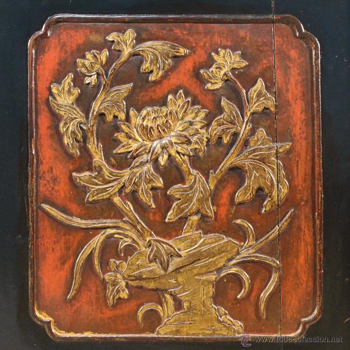 Antigüedades: Armario chino en madera lacada del siglo XX - Foto 15 - 53363269