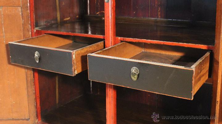 Antigüedades: Armario chino en madera lacada del siglo XX - Foto 17 - 53363269