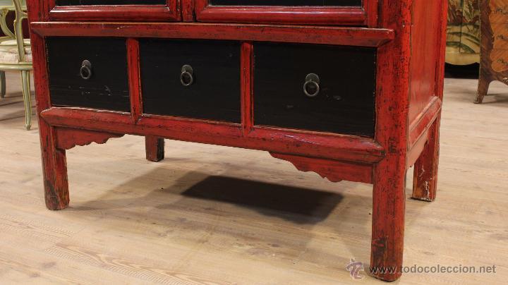 Antigüedades: Armario chino en madera lacada del siglo XX - Foto 18 - 53363269